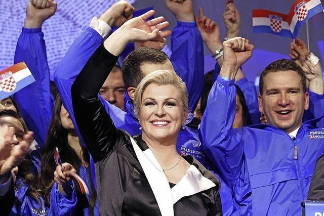 Die neue Präsidentin Kolinda Grabar-Kitarovic setzt auf nationalen Kitsch - wenn es nützt