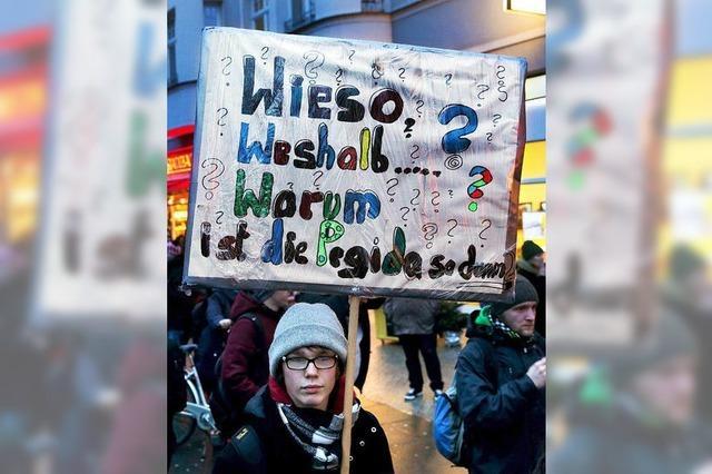 Demonstranten weisen Pegida in die Schranken