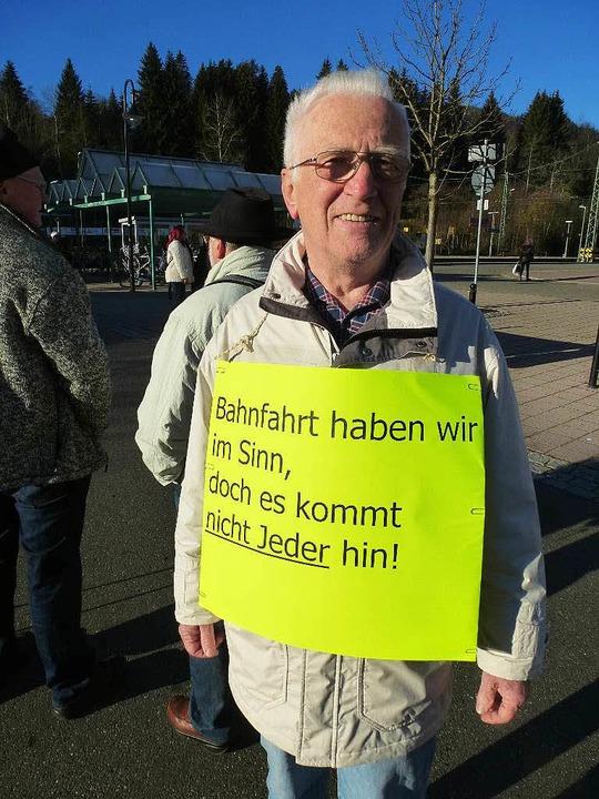 Eins der Protestplakate von der Demo im November.  | Foto: Peter Stellmach