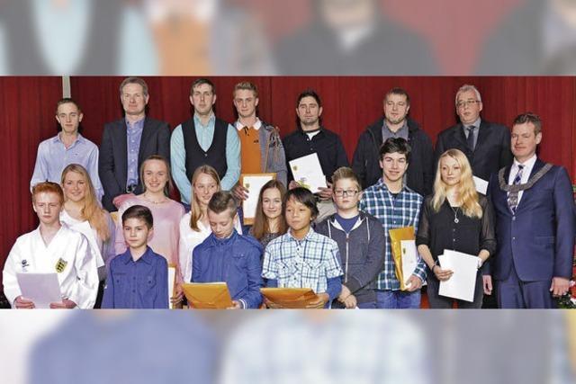 Breisach ehrt erfolgreiche Sportler