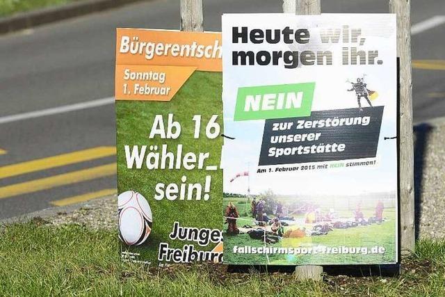Fotos: Freiburg im Stadion-Wahlkampf