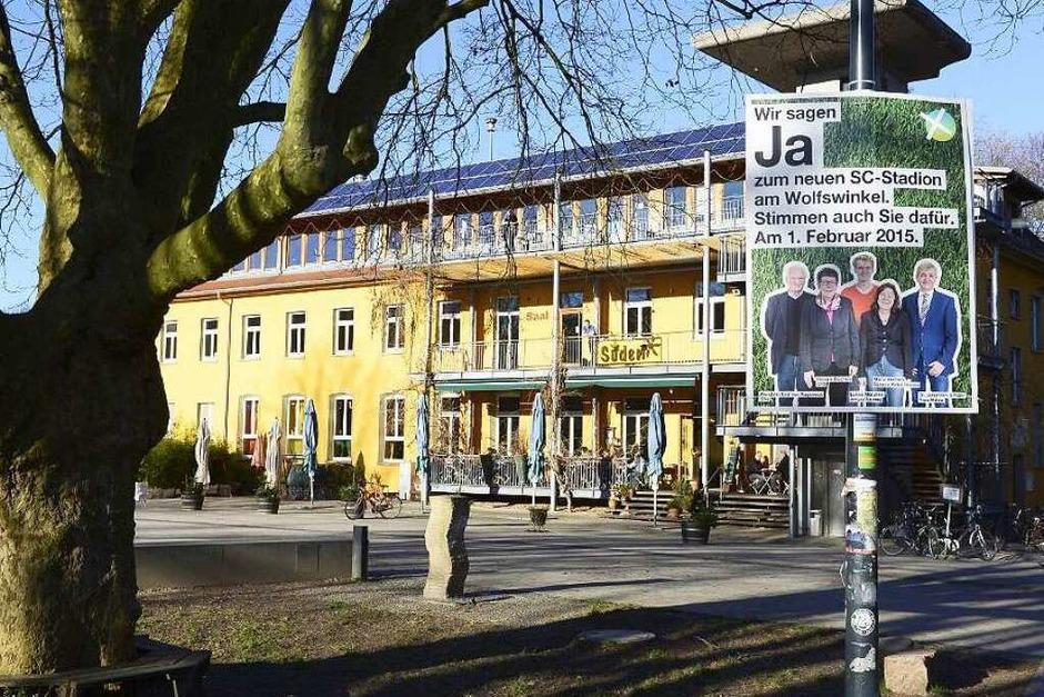 Stadion-Wahlkampf in Freiburg (Foto: Ingo Schneider)