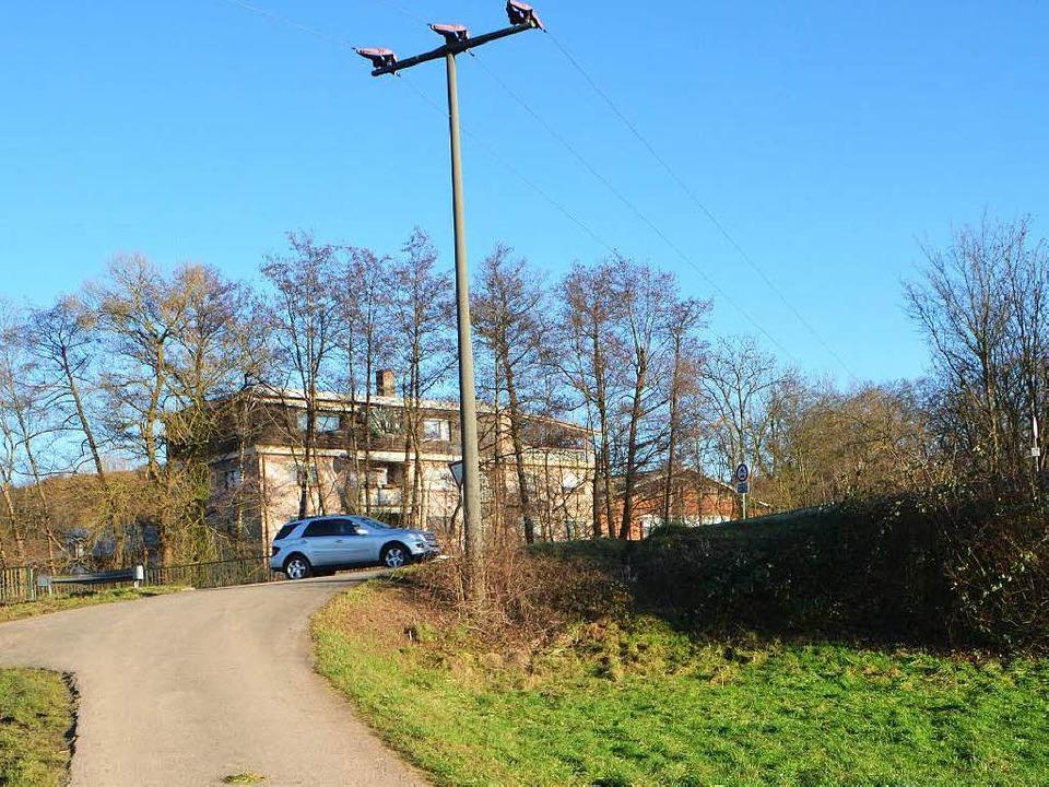 Gegenüber der Firma Bareg an der Kreisstraße 5102 ist ein Funksendemast geplant.  | Foto: Walser