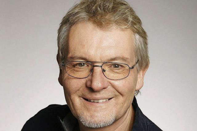 Bernd Storz in der Bar Drei König in Lörrach