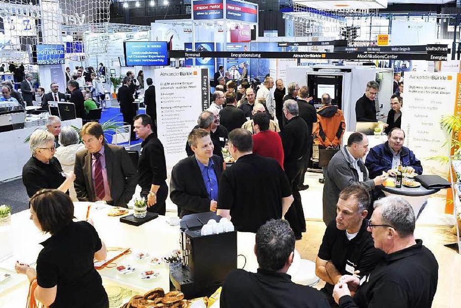 Treffpunkt der regionalen Wirtschaft: die Industriemesse I+E des Wirtschaftsverbandes Industrieller Unternehmen Baden (Foto: Thomas Kunz)