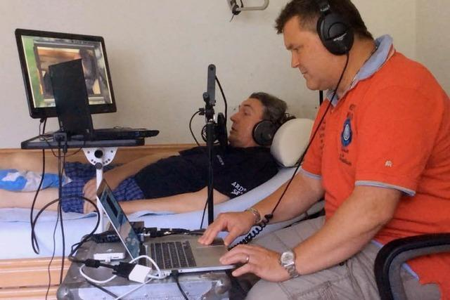 Sportjournalist Michael Dittrich arbeitet vom Krankenbett aus