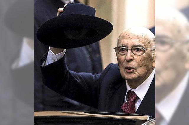 Italien sucht einen Nachfolger für Staatspräsident Napolitano