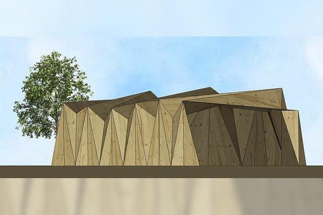 In Unadingen entsteht ein Gebäude im Origami-Stil