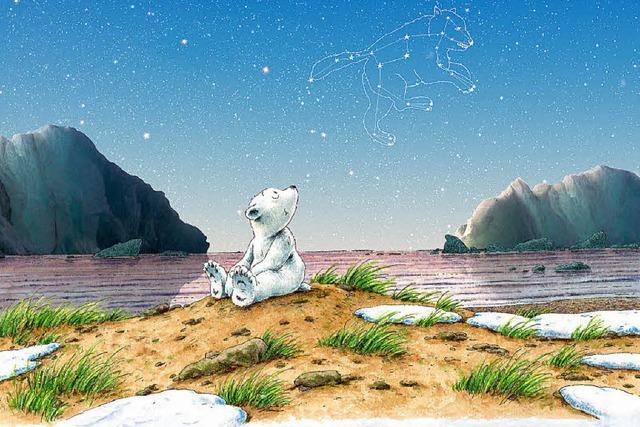 Lars, der kleine Eisbär im Planetarium in Freiburg