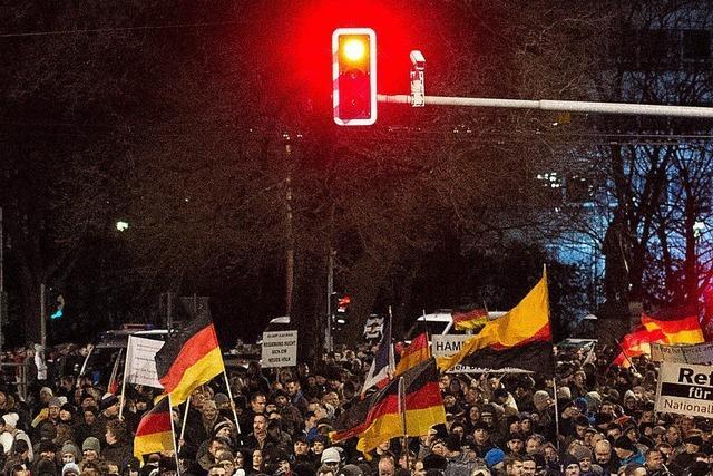 In Dresden protestiert Pegida gegen die Islamisierung des Abendlandes - dabei gibt es in Sachsen kaum Muslime