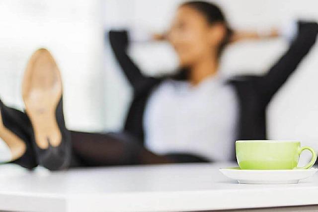 Regelmäßige Pausen sind am Arbeitsplatz ein Muss