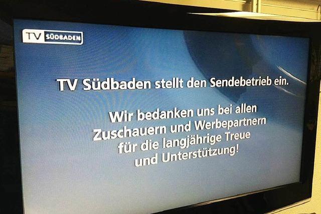 TV Südbaden aus Freiburg stellt ab sofort Betrieb ein