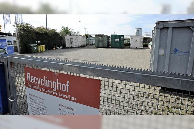 Neuer Recyclinghof und Grünschnittsammelplatz beschlossen