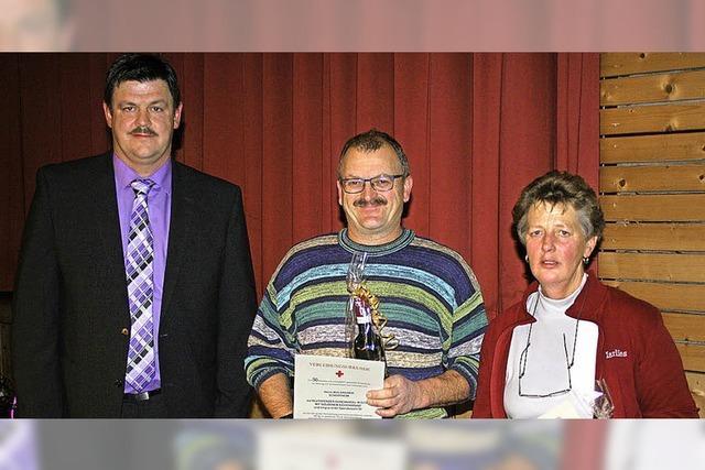 Auszeichnung für 50 Mal Blutspenden