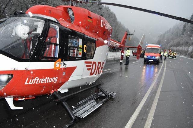 Schwerer Verkehrsunfall auf der B31