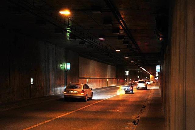 Dienstag- und Mittwochnacht wird jeweils eine Röhre des B31-Ost-Tunnels voll gesperrt