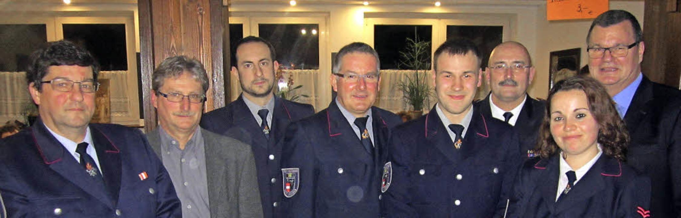 Verabschiedet wurde der langjährige Ab...ende Abteilungskommandant Martin Götz.    Foto: Reiner Merz