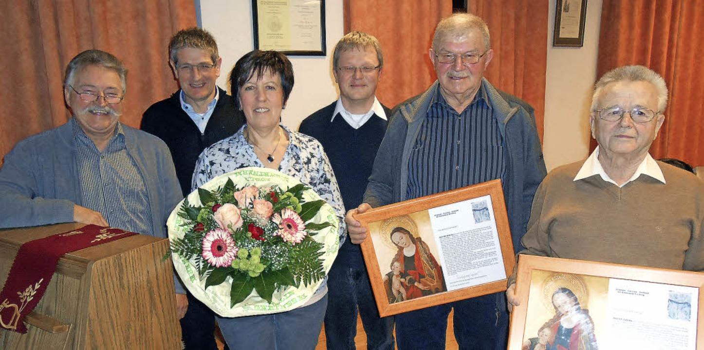 Maria Deck, Alois Moser und Josef Spra...Meisert, Alois Moser und Josef Sprang.    Foto: Simon Tenz