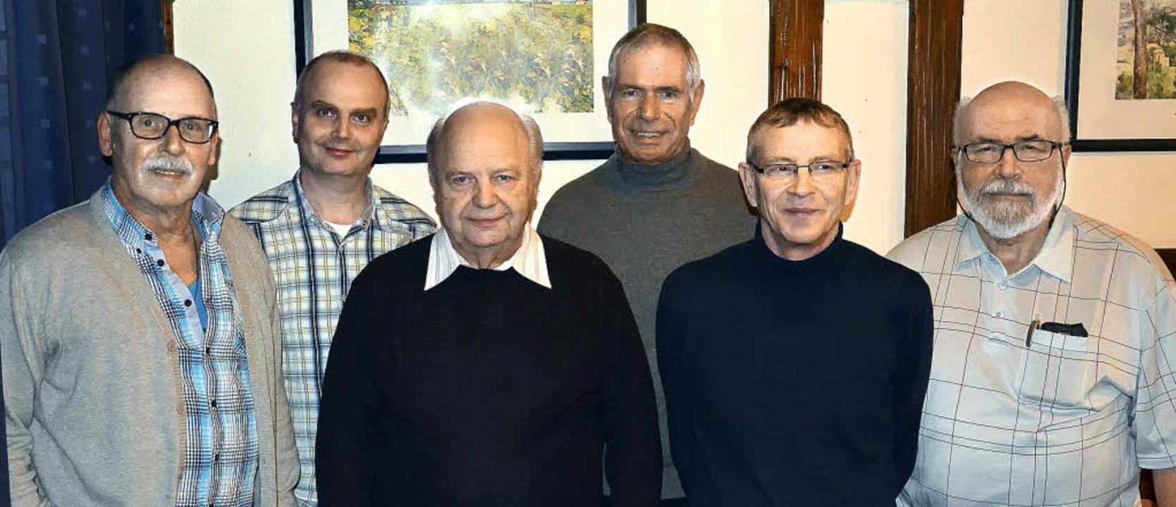 Der neugewählte Vorstand des Film-Club...riftführer). Es fehlt: Peter Scheelen.    Foto: Verein