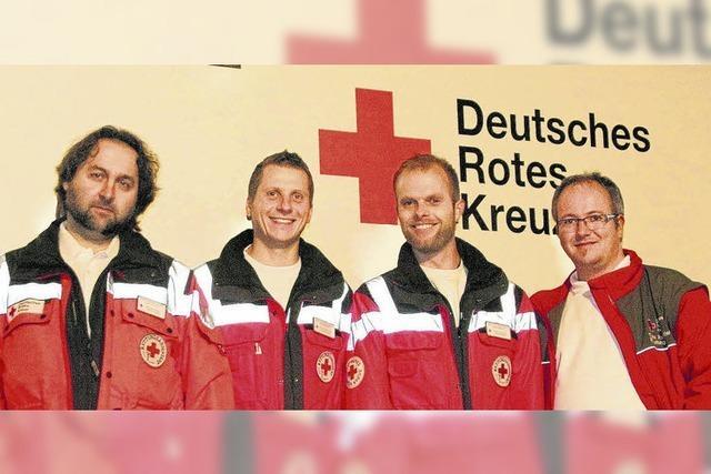 Vier Notfallpioniere im Rettungsdienst