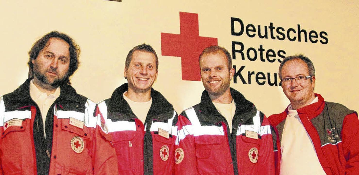 Die ersten Notfallsanitäter im DRK Don...Tobias Hauschel und Tobias Rosenstiel   | Foto: Olaf Thiel