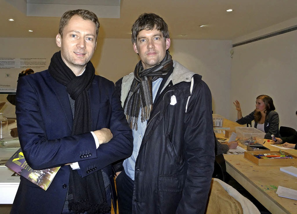 "Die Museumsdirektoren Mateo Kries und ... Media"" im Vitra Design Museum.     Foto: Christian Pelzer"
