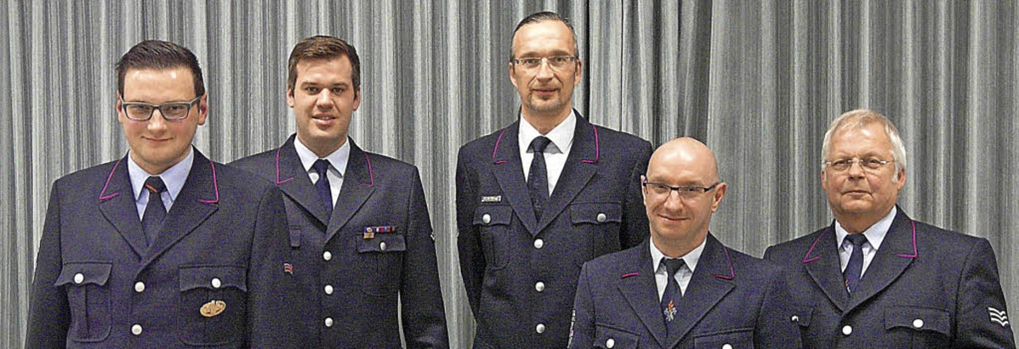 Ehrende und Geehrte (von links): Klaus...ägle wechselt in die Altersabteilung.   | Foto: Reiner Beschorner