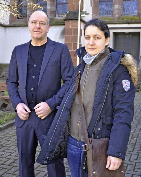 Architekt Andreas Steinröder und Projektleiterin Melanie Dörflinger.    Foto: Martina Weber-Kroker