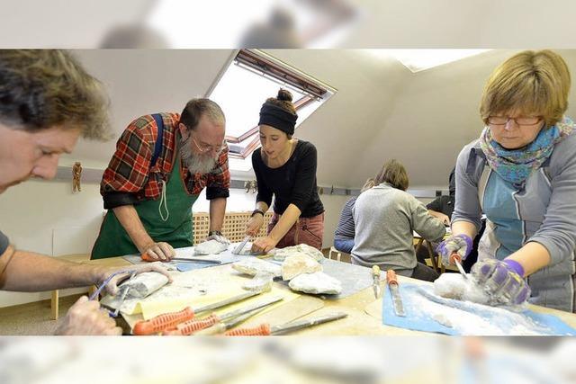 Bildhauer-Workshop im Colombischlössle