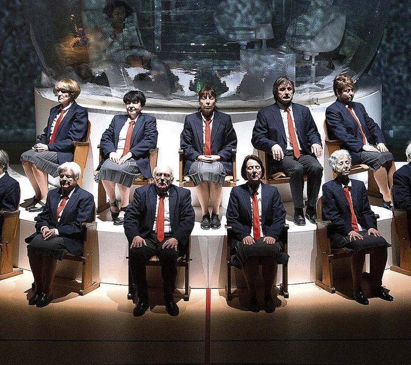 """Gemeinsam stark:  Methusalems in """"Die letzte Frage""""      Foto: Rainer Muranyi"""