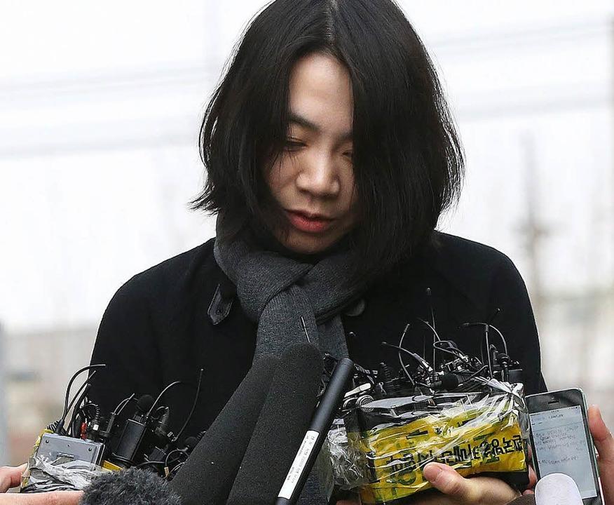 Demütig entschuldigte sich Cho Hyun-Ah nach der Affäre.     Foto: dpa