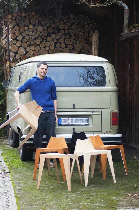 Matthias Scherzinger ist ein junger Mö...ise für seine  Arbeiten erhalten hat.     Foto: Claudia Warth