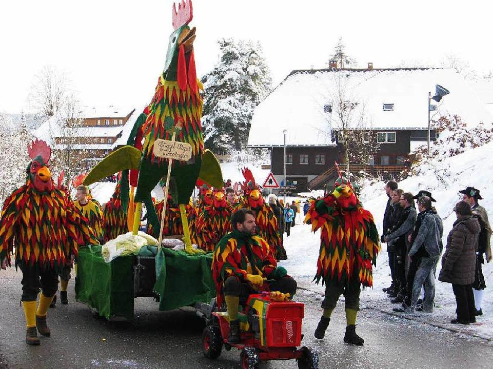 Eindrücke vom Narrenumzug in Bernau.    Foto: Ulrike Spiegelhalter