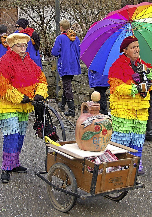 Der Leiterwagen mit dem Calvados war immer dabei!  | Foto: Jutta Binner-Schwarz
