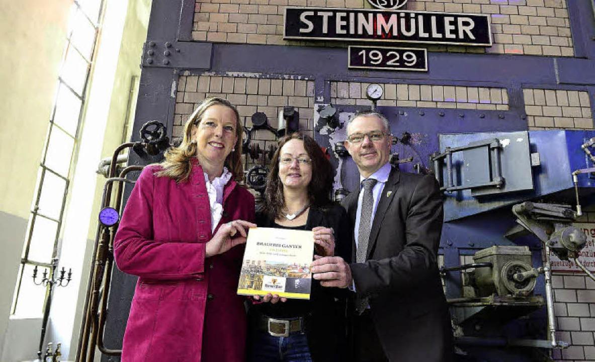 Die Geschichte der Brauerei Ganter auf...ef Frankenberger im alten Kesselhaus.   | Foto: Ingo Schneider