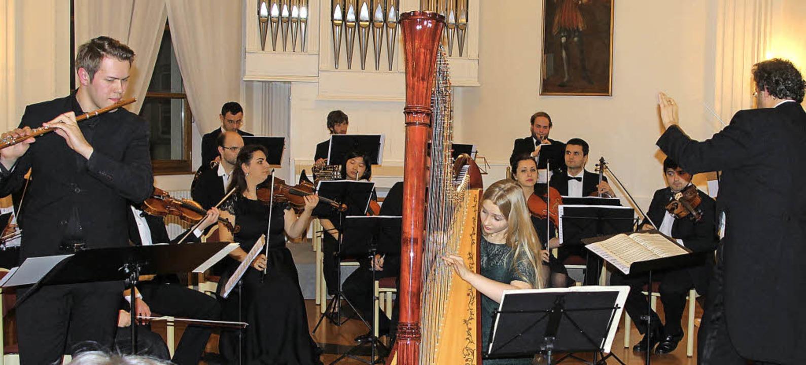 "Das Projekt ""Mozart plus"" ...te, Harfe und Orchester C-Dur, KV 299.  | Foto: Margrit Matyscak"