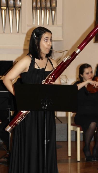 Als Solistin im Kammerorchester der Ba...on Pergolesi für Fagott und Orchester.  | Foto: Margrit Matyscak