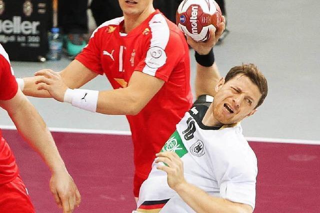 Handballer spielen bei der WM gegen Dänemark 30:30