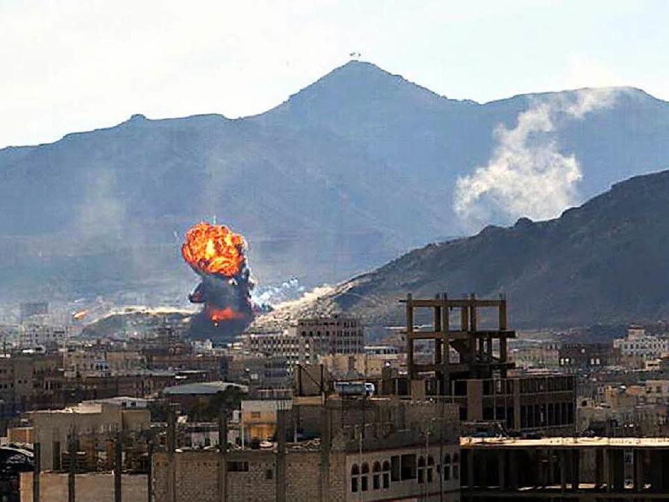 Kämpfe in der Hauptstadt Sanaa    Foto: DPA