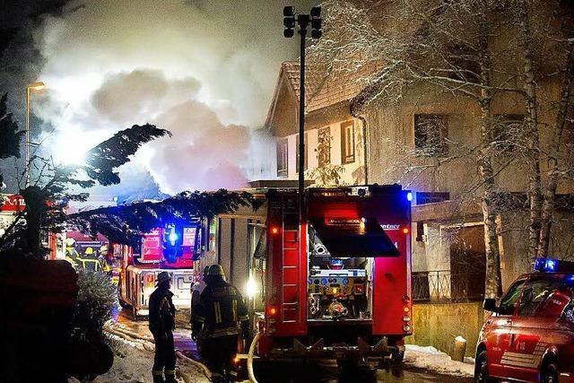 Pension in Holzschlag brennt – 100.000 Euro Schaden