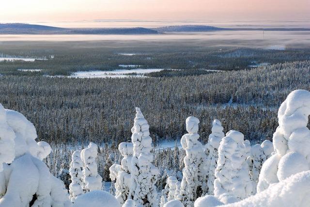 Am finnischen Polarkreis herrschen Stille und Weite vor