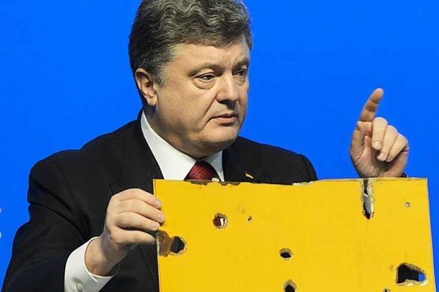 Weitere Angriffe: Poroschenko klagt Russland an