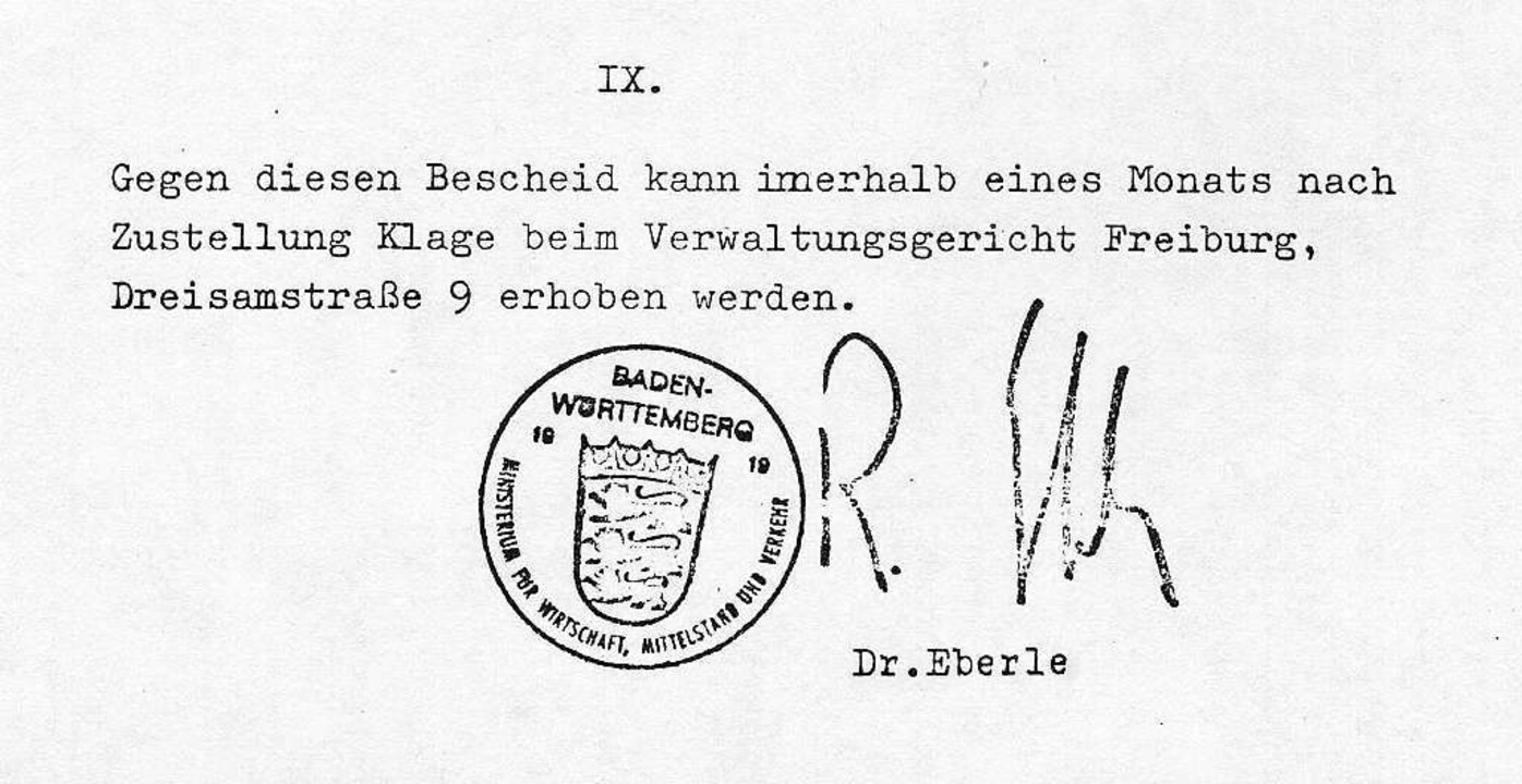 Wirtschaftsminister Rudolf Eberle saß im Badenwerk-Aufsichtsrat.  | Foto: Privat