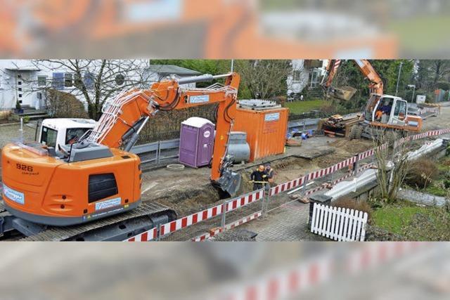 Kanalarbeiten in Ringstraße im Plan