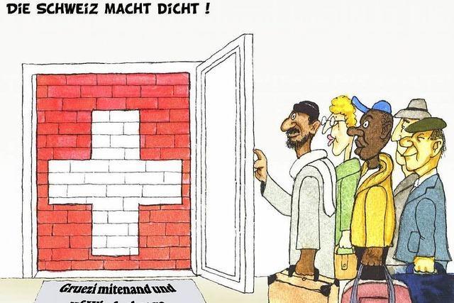 Bert Kohl zeigt Karikaturen im Winzerkeller in Auggen
