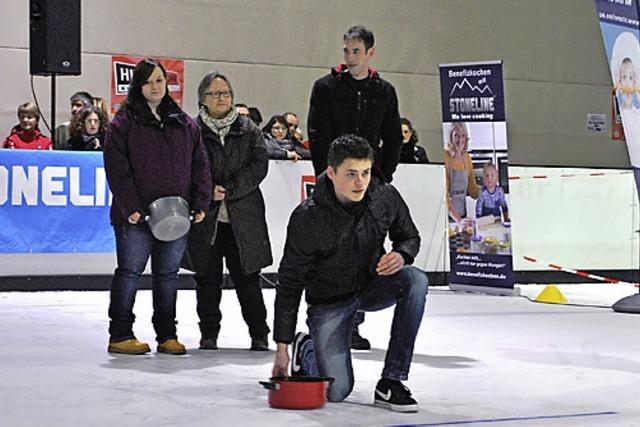Kochtopf-Eis-Curling in Offenburg