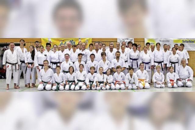 Karatekas verbessern ihre Techniken