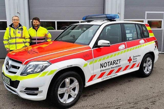 Der Notarzt erhält ein neues Fahrzeug