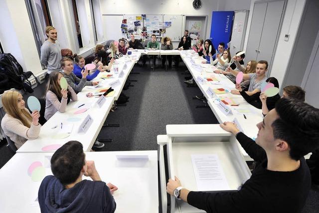 Schüler des Walter-Eucken-Gymnasiums haben über das neue Stadion abgestimmt