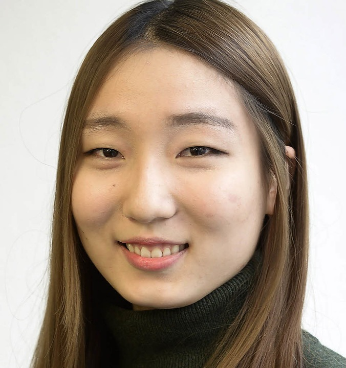 """Jin Hee Yoon, 20:  """"Obwohl ich s...mir hier das Münster gefallen. """"    Foto: Ingo Schneider"""